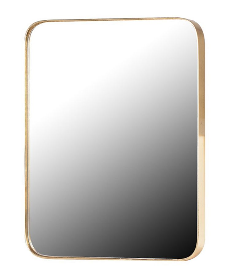 Home Accessories Finishing Touches Rounded Corner Gold Frame Mirror