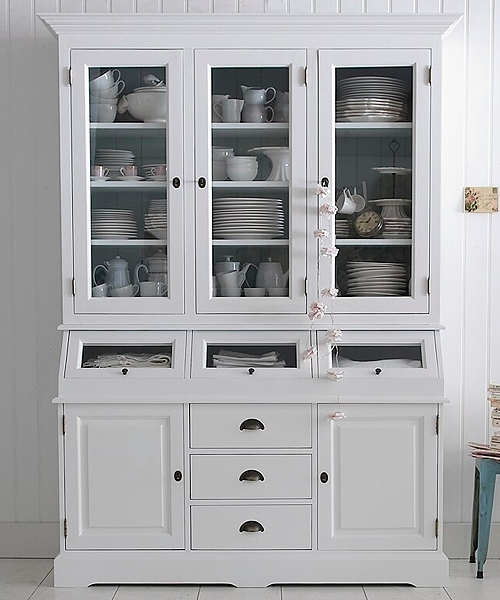 Three door grocers kitchen bespoke painted dresser