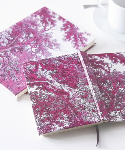 Trees Two pink journal