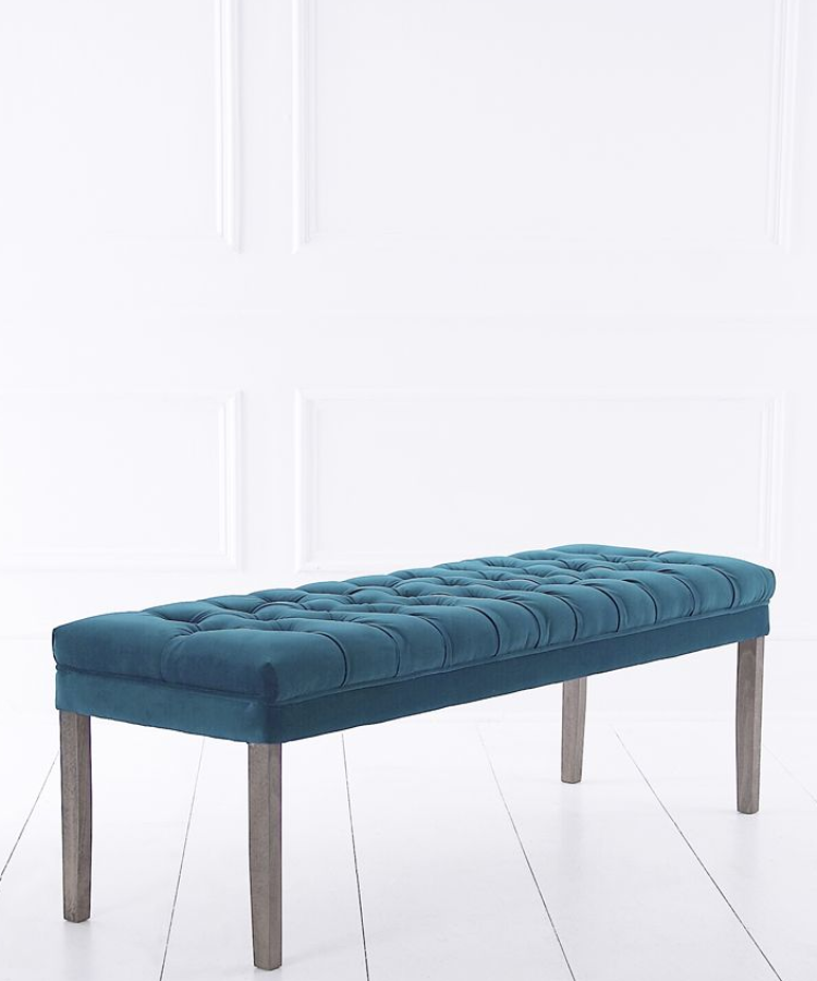 Upholstered Backless Dining Bench Velvet 6 Lengths